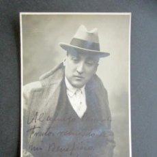 Postales: POSTAL FOTOGRÁFICA ARTISTA. FIRMADA Y DEDICADA. AÑO 1919. CARTAGENA FOTO. . Lote 170539716