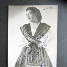 Postales: POSTAL FOTOGRÁFICA ARTISTA. CUPLETISTA. FOTO IBAÑEZ. MADRID. AÑO 1954. . Lote 170540352