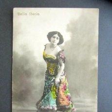 Postales: POSTAL ARTISTA BELLA IBERIA. CIRCULADA. AÑO 1911. TEATRO. CUPLETISTA. . Lote 171042517