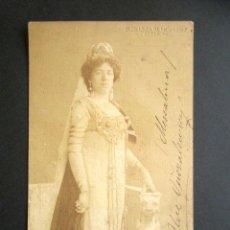 Postales: POSTAL FOTOGRÁFICA SOPRANO DRAMÁTICA HUNGARA. ALICE GUSZALEWICZ. 1879, 1940. BLUM W. HOFFERT. COLN.. Lote 171044852