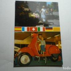 Postales: POSTAL VESPA -1A VESPISTA DEL ESTADO AUTONOMIAS A LOS 70 AÑOS MARIA LLONC--DORSO FIRMA Y FECHA . Lote 171213419