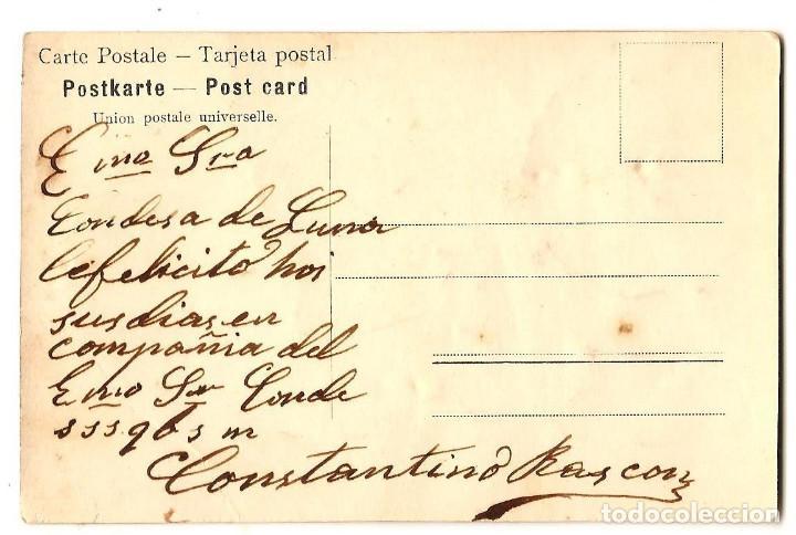 Postales: PRECIOSA POSTAL CON MOTIVOS FLORALES COLOREADA Y EN RELIEVE MANUSCRITA MUY ANTIGUA - Foto 2 - 171255440