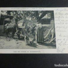 Postales: DAR DE COMER AL HAMBRIENTO POSTAL COLECCION CANOVAS REVERSO SIN DIVIDIR. Lote 172017959