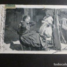 Postales: ABUELA Y NIETA POSTAL COLECCION CANOVAS . Lote 172021454