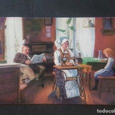 Postales: MAQUINA DE COSER SINGER POSTAL PUBLICITARIA NORUEGA. Lote 172093158
