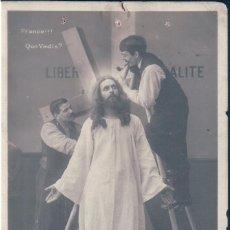 Postales: POSTAL FRANCE!!! QUO VADIS? LIBERALITE - LE CHRIST DES TRIBUNAUX - PARDONNEZ LEUR - SERIE 760 - CIRC. Lote 172095084