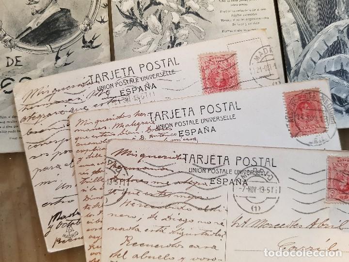 Postales: ANTIGUAS POSTALES ROMANTICAS RIMAS DE BECQUER 1913 - Foto 2 - 172096100
