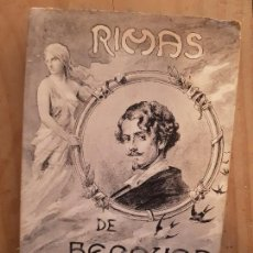 Postales: ANTIGUAS POSTALES ROMANTICAS RIMAS DE BECQUER 1913. Lote 172096100