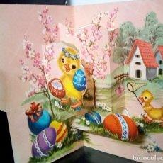 Postales: FELICITACION TROQUELADA * PATITOS *. Lote 172402808