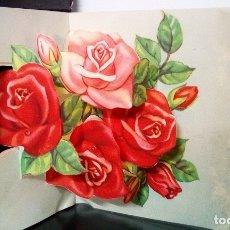 Postales: FELICITACION TROQUELADA * ROSAS *. Lote 172402953