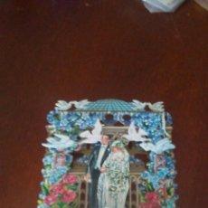 Postales: ANTIGUA POSTAL DE BODA EN RELIEVE AÑO1991. Lote 173577033