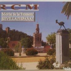 Postales: POSTAL QSL MORON DE LA FRONTERA - SEVILLA. Lote 174291788