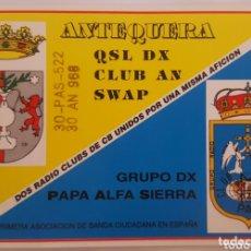 Postales: POSTAL QSL ANTEQUERA - MÁLAGA & OVIEDO. Lote 174294255