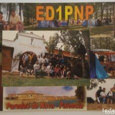 Postales: POSTAL QSL PAREDES DE NAVARRA - PALENCIA. Lote 174295463