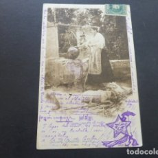 Postales: POSTAL COLECCION CANOVAS JUNTO AL POZO MURCIA . Lote 174572834