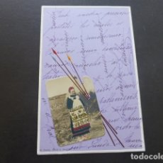 Postales: MUJER EN PALETA DE PINTOR POSTAL HACIA 1902. Lote 174573300