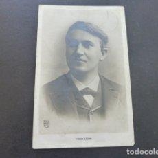 Postales: THOMAS EDISON INVENTOR DE LA BOMBILLA POSTAL. Lote 175069260