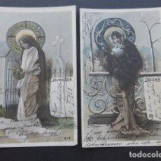 Postales: MESES DEL AÑO COLECCION 12 POSTALES MODERNISTAS ART NOUVEAU 1903. Lote 175179883