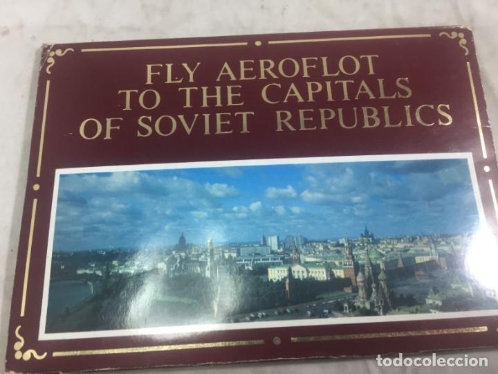 SOBRE 15 POSTALES UNIÓN SOVIETICA AEROFLOT LINEA AEREA ESPECIAL JUEGOS OLIMPICOS COLOR SIN CIRCULAR (Postales - Postales Temáticas - Especiales)