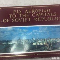 Postales: SOBRE 15 POSTALES UNIÓN SOVIETICA AEROFLOT LINEA AEREA ESPECIAL JUEGOS OLIMPICOS COLOR SIN CIRCULAR. Lote 175463643
