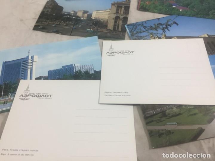 Postales: Sobre 15 postales Unión Sovietica Aeroflot Linea Aerea especial Juegos Olimpicos color sin circular - Foto 4 - 175463643