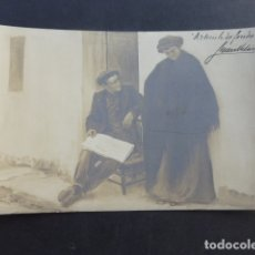 Postales: ARTICULO DE FONDO POSTAL FOTOGRAFICA CUADRO JUAN VITORICA PINTOR, CON FIRMA AUTOGRAFA COMPAÑY MADRID. Lote 175505392