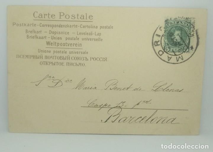 1903 Enviada de Madrid a Barcelona el 3 de octubre de 1903 (ver sello) - 175970548