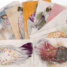 Postales: RAMON CASAS 10 POSTALES MANOLAS SERIE COMPLETA. Lote 176384458