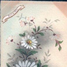 Postales: POSTAL DIBUJO MARGARIRA - BONNE FETE - CIRCULADA CON SELLO EN 1908. Lote 176506042