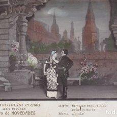 Postales: SOLDADITOS DE PLOMO TEATRO NOVEDADES BARCELONA CIRCULADA AÑOS 30 ED BARTRINA. Lote 177047165