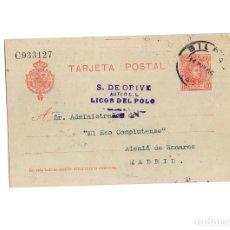 Postales: ALCALÁ DE HENARES.(MADRID).- S.DE ORIVE. AUTOR DEL LICOR DEL POLO. 1906.. Lote 177732325