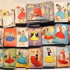 Postales: 20 POSTALES BORDADAS , VINTAGE, FLAMENCO AÑOS 60. Lote 177886757