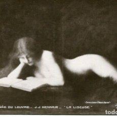 Postales: LA LISEUSE- JOVEN DESNUDA CON LIBRO-MUSEO DEL LOUVRE- ORIGINAL. Lote 178170521