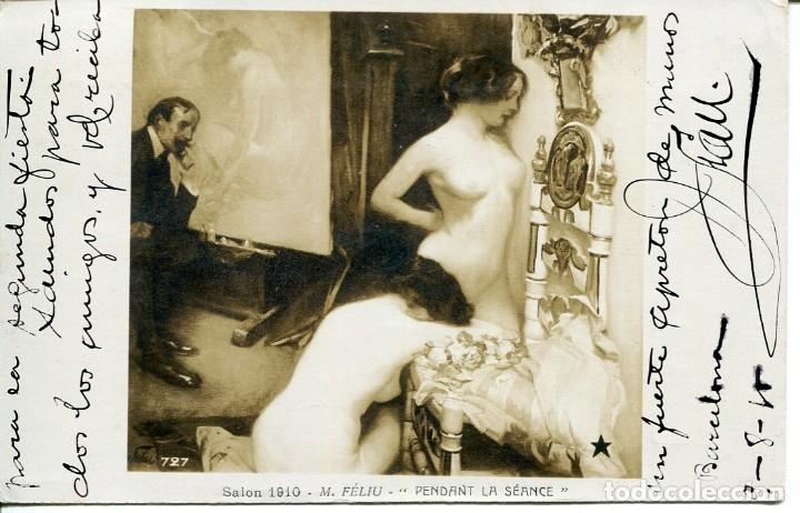 DOS JÓVENES DESNUDAS- AÑO 1910 (Postales - Postales Temáticas - Especiales)