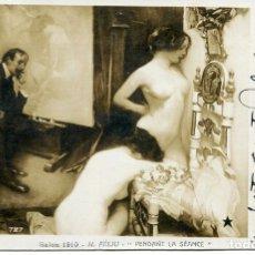 Postales: DOS JÓVENES DESNUDAS- AÑO 1910. Lote 178213948