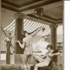 Postales: JÓVENES DESNUDAS EN LA PISCINA. Lote 178215761