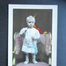 Postales: POSTAL FAMILIA REAL ESPAÑOLA. PRÍNCIPE DE ASTURIAS. FOTÓGRAFO KAULAK. MONARQUÍA ALFONSO XIII. Lote 178435541