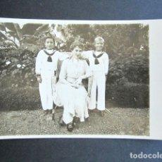 Postales: POSTAL FOTOGRÁFICA FAMILIA REAL ESPAÑOLA. REINA Y LOS PRÍNCIPES. MONARQUÍA ALFONSO XIII. . Lote 178443922