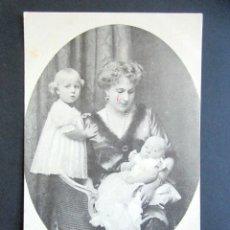 Postales: POSTAL FAMILIA REAL ESPAÑOLA. REINA Y D. Mª CRISTINA Y D. JUAN. MONARQUÍA ALFONSO XIII. . Lote 178446183