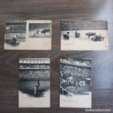 Postales: LOTE DE POSTALES DE TAUROMAQUIA. HAUSER Y MENET. Lote 179121492