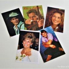 Postales: LOTE 5 POSTALES ACTORES DE CINE Y O PERSONAJES. Lote 180499185