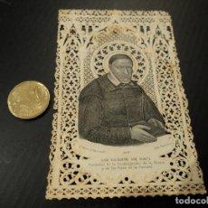 Postales: ESTAMPA TROQUELADA SAN VICENTE DE PAUL 11 X 7 CM. Lote 181407201