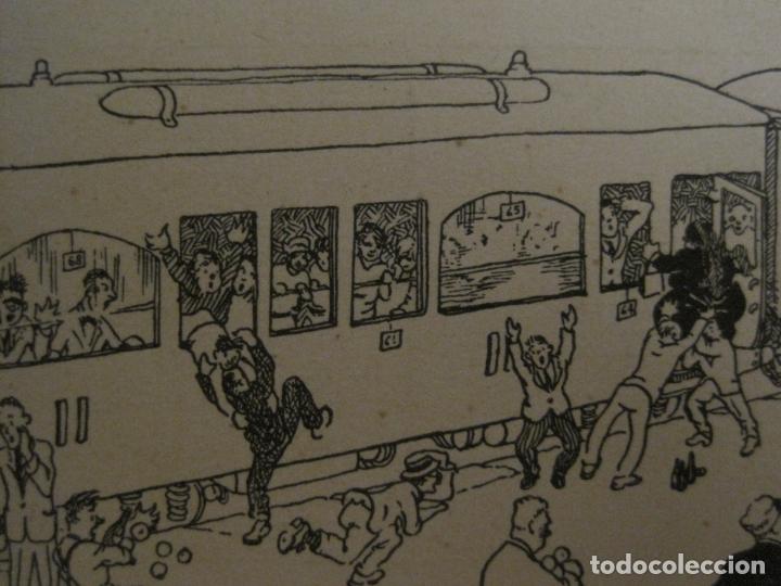 Postales: POSTAL ANTIGUA ILUSTRADA POR IGNASI BAIXAS ??-TREN FERROCARRIL-VER FOTOS-(63.706) - Foto 2 - 182220146