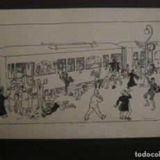 Postales: POSTAL ANTIGUA ILUSTRADA POR IGNASI BAIXAS ??-TREN FERROCARRIL-VER FOTOS-(63.706). Lote 182220146