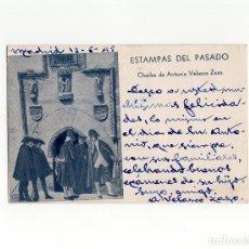Postales: ESTAMPAS DEL PASADO, CHARLAS DE ANTONIO VELASCO ZAZO. FIRMA A.VELASCO ZAZO.. Lote 182688910