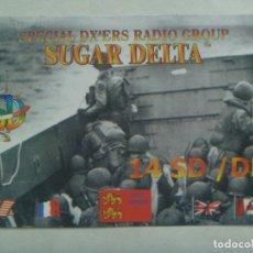 Postales: POSTAL DE RADIOAFICIONADO CON FOTO DEL DESEMBARCODE NORMANDI, FRANCIA. Lote 182966953