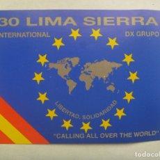 Postales: POSTAL DE RADIOAFICIONADO CON BANDERA DE ESPAÑA Y EUROPA. Lote 182972083