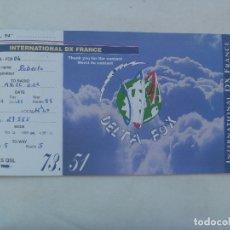 Postales: POSTAL DE RADIOAFICIONADO . DELTA FOX - BRETAÑA, FRANCIA. Lote 182982805