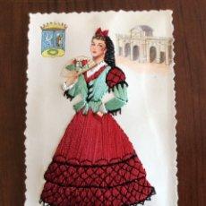 Postales: POSTAL BORDADA. ELSI GUMIER. TRAJE REGIONAL. MADRID.. Lote 183180958