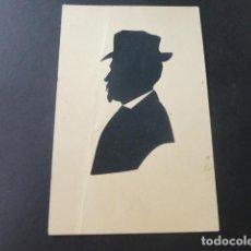 Postales: SILUETA DE HOMBRE CON SOMBRERO EN TARJETA POSTAL. Lote 183437708